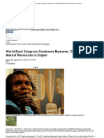 World Zomi Congress Condemns Myanmar, China Exploiting Natural Resources in Zogam