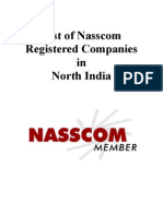 List of Nasscom Registered Companies in North India