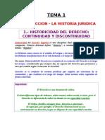 Tema 01 - Introduccion. La Historia Juridica.