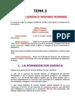 Tema 03 - Sistema Juridico Hispanorromano.