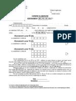 Cerere Abonament 5,10,15 Zile