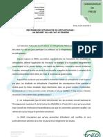 cdp 16 mai 2013 la réforme des études en orthophonie un décret qui se fait attendre