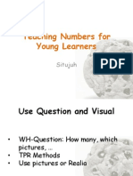 Teaching Numbers for Young Learners
