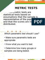Parametric Tests