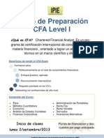 Curso de Preparacion CFA Level I (Flyer)