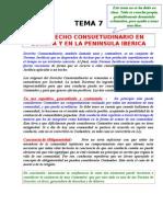 Tema 07 El Derecho Consuetudinario en La Peninsula Iberica.