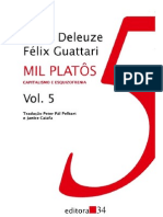 Gilles Deleuze & Felix Guattari - Mil Platôs Vol. 5
