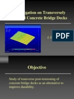 An Investigation on Transversely Prestressed Concrete Bridge Decks