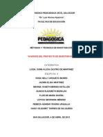 Metodos y Tecnicas de Investigacion (Proyecto)