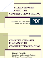 Considerations in Planning the Construction Staging ppt