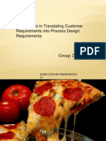 PIZZA USA An Exercise in Translating Customer Requirements into Process Design Requirements.pptx