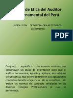 Código de Etica del Auditor Gubernamental del Perú