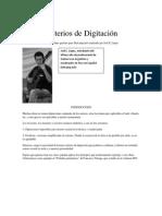 Criterios de Digitación