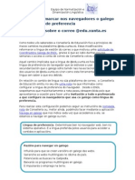 Invitación a marcar nos navegadores o galego como lingua de preferencia