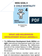 millenium development goal no 4