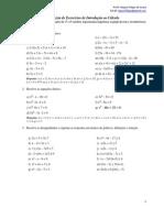 Equações, inequações, módulos, exponenciais, logartimos, equção da reta e circunferência (1)