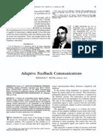 Adaptive Feedback Communications
