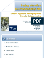 Emotion regulation training improves financial decision-making