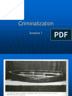 Seminar 1 Criminalization