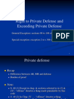 Seminar 14 Private Defence & Exceeding Private Defence