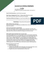 Revised Environmental Law Syllabus Highlights