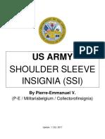 Us Army Shoulder Sleeve Insignia (Institute of Heraldry)