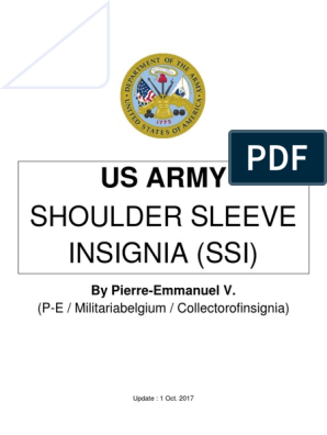 Us Army Shoulder Sleeve Insignia (Institute of Heraldry