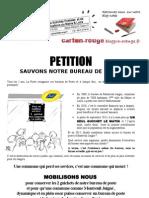 Pétition tract  Montreuil Juigné