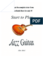 Start to play jazz guitar by Abe Abel - Basic Skills  .Sample pages