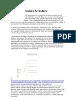 Oral Presentation Structure