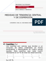 ESTADISTICA MEDIDAS DE TENDENCIA CENTRAL Y DE DISPERSIÓN