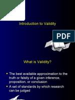 Intro to Validity