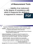 Measurement Tools Reliabiliy