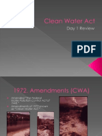 Clean Water Act-Day One