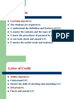 Job Project 3 Letter of Credit