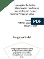 Membincangkan Perkaitan Organisasi Kandungan Dan Bidang Pembelajaran Dengan