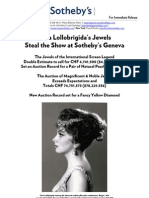 Jewels of Hollywood Legend Gina Lollobrigida Steal the Show in Geneva