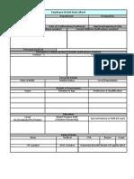 Employee Data Base Format