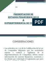 1.- Presentación de Estados Financieros 2012 a SuperCia