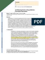Corticotropin Releasing Factor in Drug Addiction