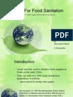 Ozone for Sanitation