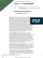 Arquitectura y Humanidades. Publicación de propuesta académica