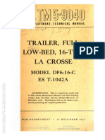 Tm 5-9040 Trailer Full Low Bed 16 Ton DF6-16-C