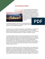 Principales Plantas de Energía en México