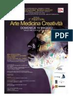 """Primo Festival  """"Arte Medicina Creatività""""  Torino   - 19 Maggio2013"""