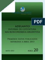 Adelanto Informe de Coyuntura Macroeconómica Argentina Mayo 2013