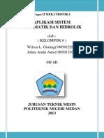 Aplikasi Sistem Pneumatik Dan Hidrolik