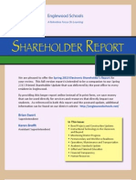 Englewood Schools' Spring 2013 Shareholder Report