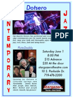 Contemporary Jazz Concert June 1 - Dotsero with special guest FluteDaddy