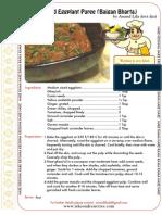 baked eggplant puree baigan bharta - iskcondesiretree